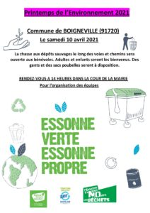 Essonne Verte, Essonne Propre
